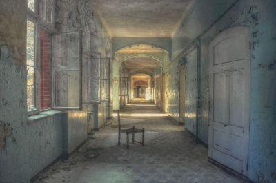 Beton Schilderij Hallen Verlaten 120x80