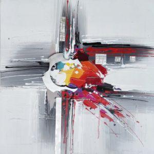 Schilderij modern metaal  80x80