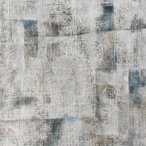 Groot schilderij abstract grijs zwart donkerblauw 150x150