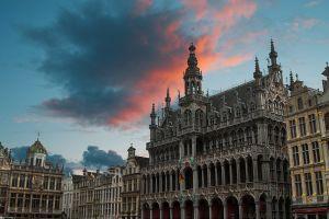 Glas schilderij gemeentehuis Brussel