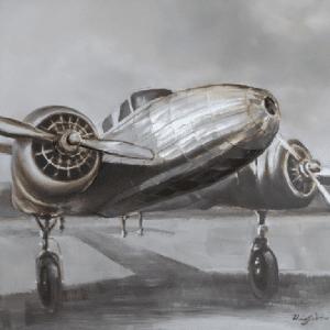 Schilderij vliegtuig 100x100