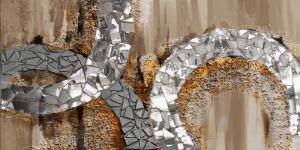 Metaal Bruin Schilderij