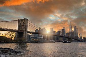 Beton schilderij Bridge New York