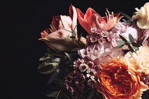 Glas schilderij flowers