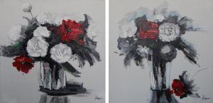 Schilderij bosbloemen 120x60