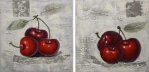 Schilderij kersen 120x60
