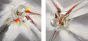 Schilderij moderne metaal kunst 120x60