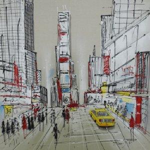Schilderij New York 100x100