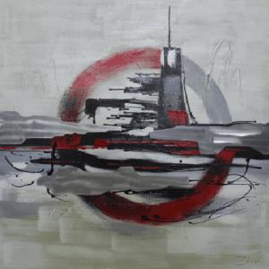 Schilderij onderzeeër 100x100