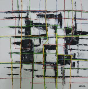 Schilderij moderne kunst 100x100