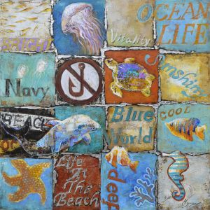 Olieverf schilderij zee maritiem thema