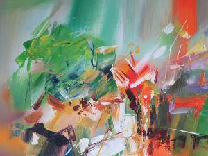 Kleurrijk abstract schilderij bestel