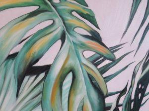 Schilderij Close Up Bladeren