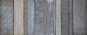 Schilderij Aluminium Zilveren Ringen 150x60