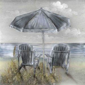 Schilderij strandzicht 100x100