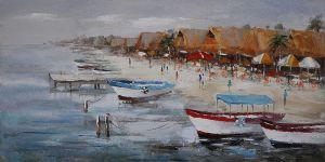 Schilderij Strand Boulevrd 150x60