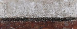 Groot schilderij abstract bordeaux rood grind 180x60
