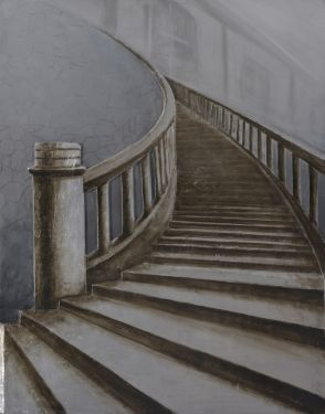 Schilderij lange trap 90x120