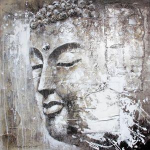 Schilderij boeddha beeld 100x100