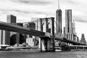 Glas schilderij Brooklyn Bridge 120x80