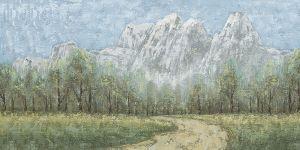 Schilderij bergachtig landschap 140x70