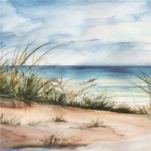 Schilderij duinen en zeezicht 100x100