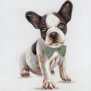 Schilderij puppy