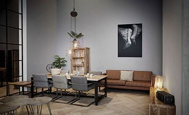 Foto kunst schilderij in de woonkamer