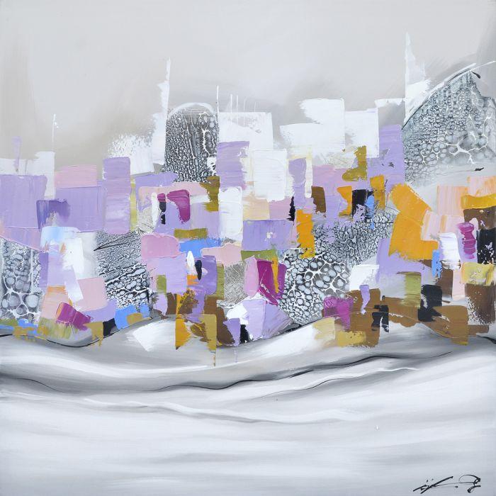 Abstracte Schilderijen: Pastel Kleuren Abstracte Kunst