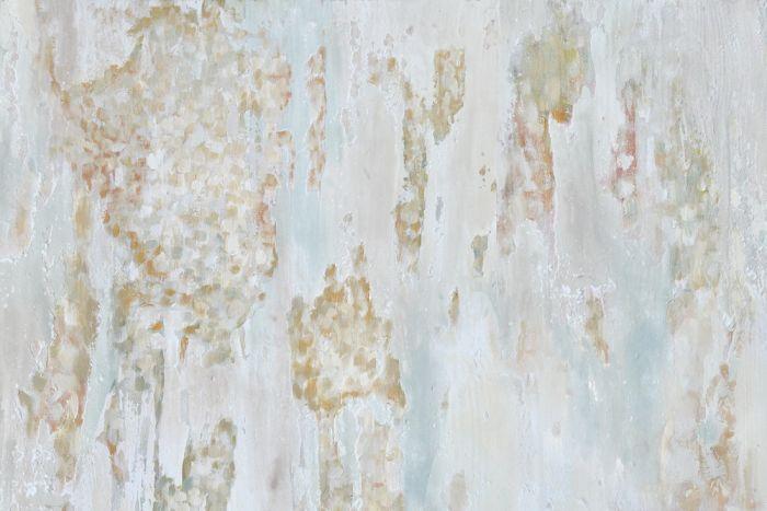 Abstracte Schilderijen: Pastel Structuur Schilderij