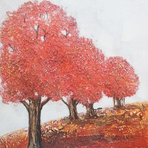 Landschappen Schilderijen: Rode Bomen Kunst