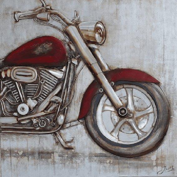 Rijtuigen Schilderij: Motor Schilderij