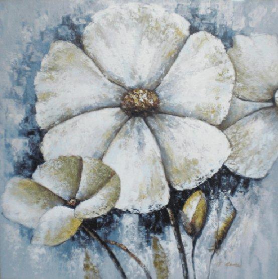Bloemen Schilderijen: Witte Margrieten Kunst