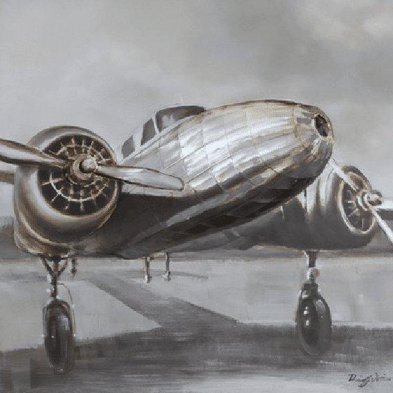 Rijtuigen Schilderij: Vliegtuig Schilderij
