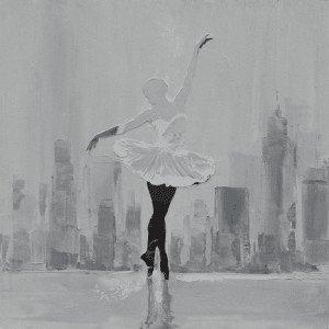 Figuratieve Schilderijen: Stadsgrens Ballerina Schilderij