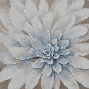 Bloemen Schilderijen: Witte Dahlia Schilderij