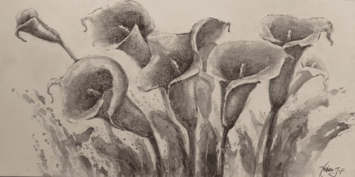 Bloemen Schilderijen: Aronskelken Schilderij