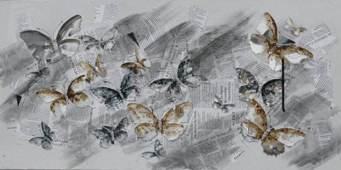 Dieren Schilderijen: Vlinders Schilderij