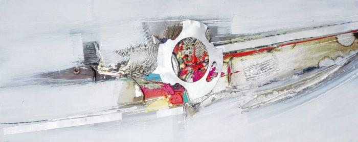 Abstracte Schilderijen: Metaal Abstract Schilderij