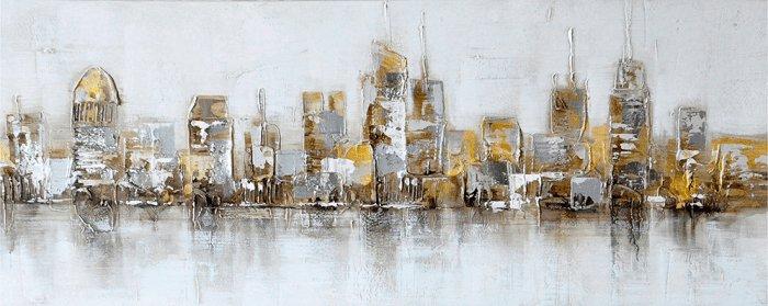 Gebouwen Schilderijen: Gouden Stad Schilderij