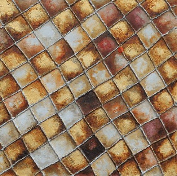 Abstracte Schilderijen: Bruine Mozaïek  Kunst