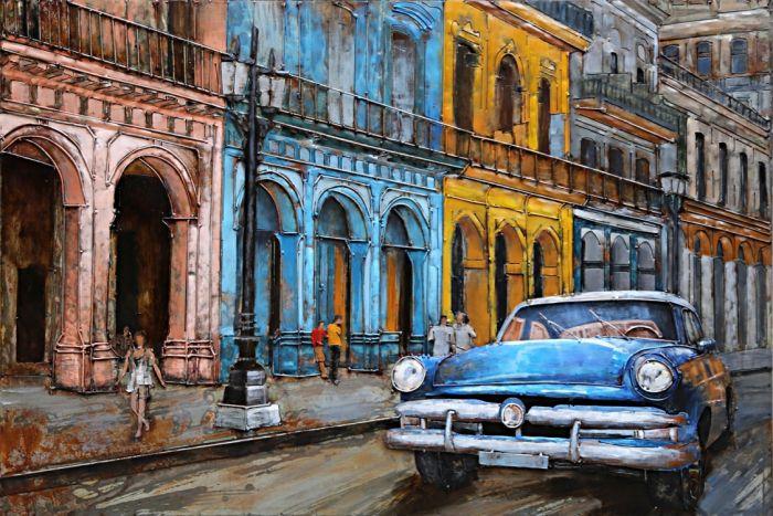 3D schilderijen: 3D schilderij Stad Havana Cuba
