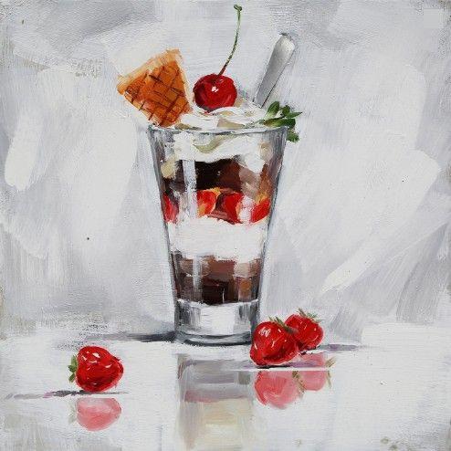 Eten & Drinken Schilderijen: Sorbetijs Schilderijen