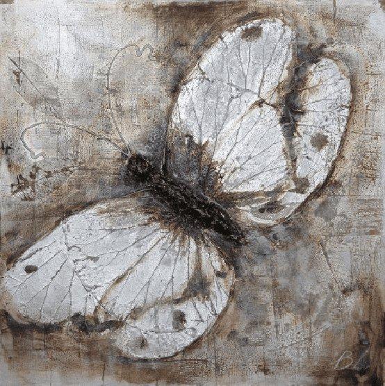 Dieren Schilderijen: Witte Vlinder Schilderij