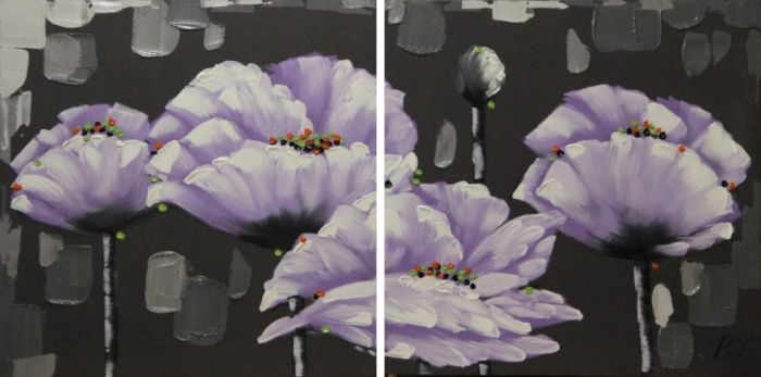 Bloemen Schilderijen: Witte Klaprozen Schilderijen