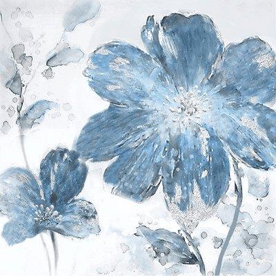 Bloemen Schilderijen: Blauwe Klaprozen Schilderij