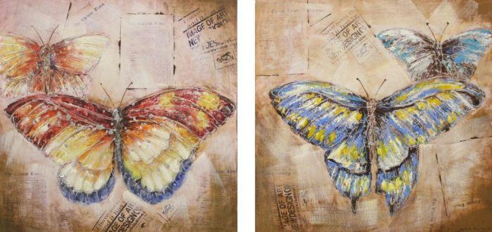 Dieren Schilderijen: Twee Vlinders Schilderijen