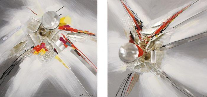 Abstracte Schilderijen: Abstract Metaal Kunst