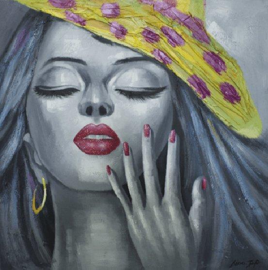 Figuratieve Schilderijen: Vrouwelijk Schoonheid Schilderij