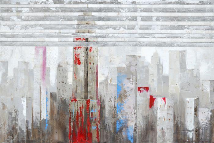 Abstracte Schilderijen: Stad Schilderij